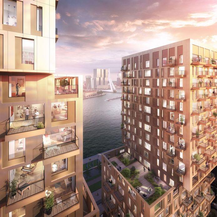 Wethouder Bas Kurvers van Rotterdam onthulde recent de naam van de nieuwe woontorens aan de Maas: Clubhouse Boompjes.