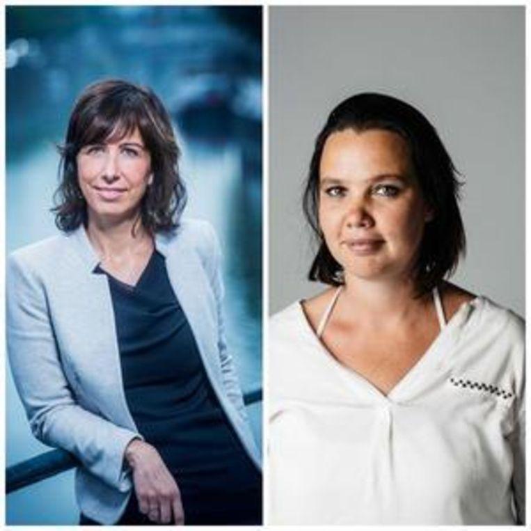 An Goovaerts en Lisbeth Imbo, hoofdredacteuren De Morgen Beeld