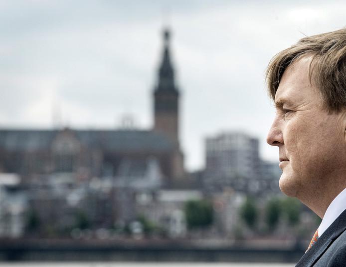 Koning Willem-Alexander vorig jaar in Nijmegen voor de opening van een fietscongres.