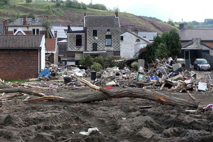 Zware schade in Trooz, Luik.