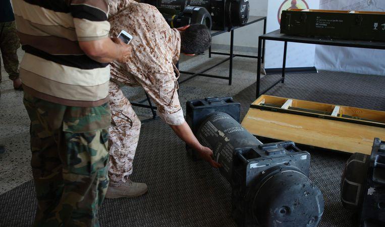 De raketten die in beslag werden genomen bij strijdkrachten loyaal aan generaal Khalifa Haftar.