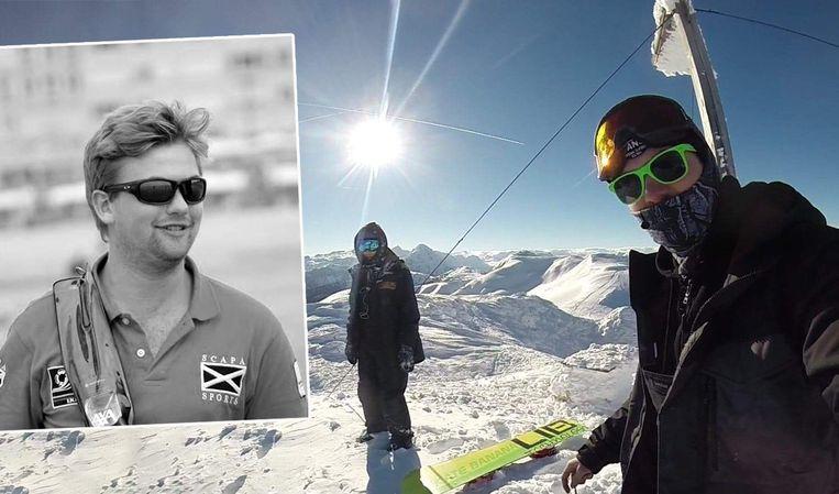 Bjorn Leblon en Yoeran tijdens één van hun skitrips.