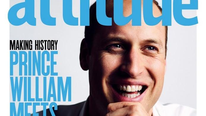 Prins William is het eerste lid van de Britse koninklijke familie die op de cover van een homoblad staat.