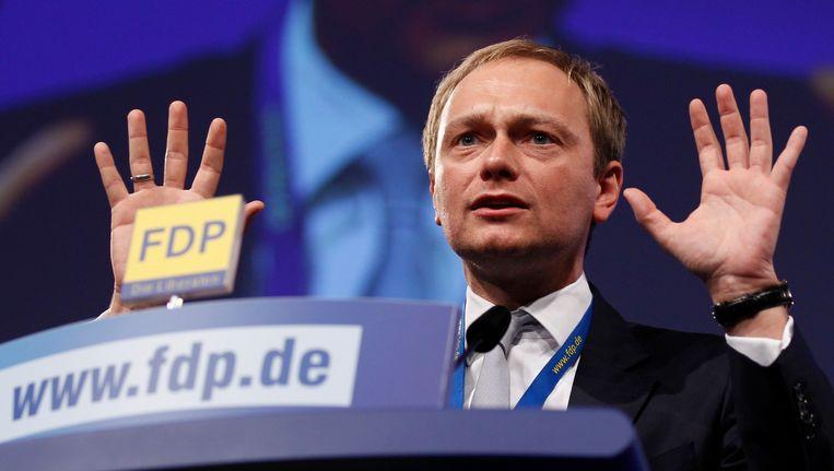 Kopstuk van de FDP Christian Lindner. Beeld REUTERS