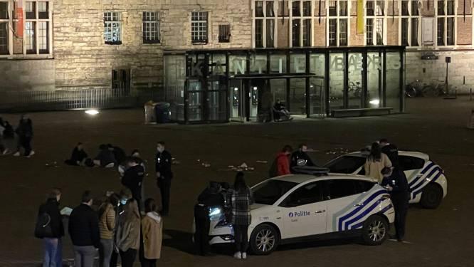 13 studenten negeren krijtbubbels op Sint-Pietersplein, ook 1 luidspreker in beslag genomen