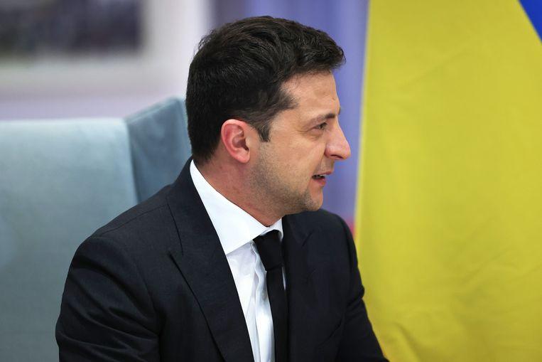 De Oekraïense president Volodimir Zelenski zou volgens critici vooral zijn tegenstanders willen tegenwerken.  Beeld Getty Images