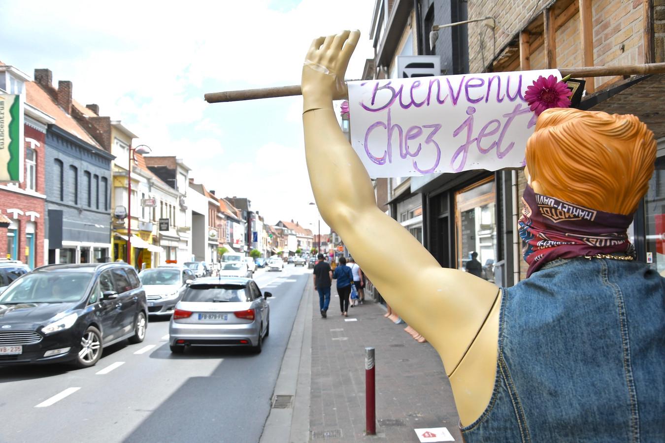 De mondmaskerplicht in de Rijselstraat is voor onbepaalde duur verlengd