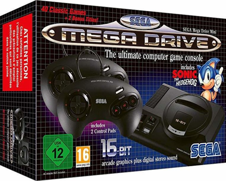 Potje retrogamen: de Sega Mega Drive Mini.