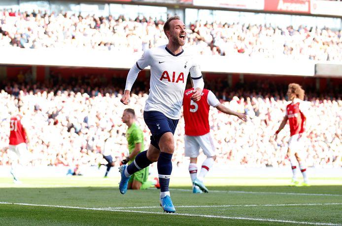 Eriksen scoorde dit seizoen nog in het Emirates Stadium van Arsenal voor de Spurs.