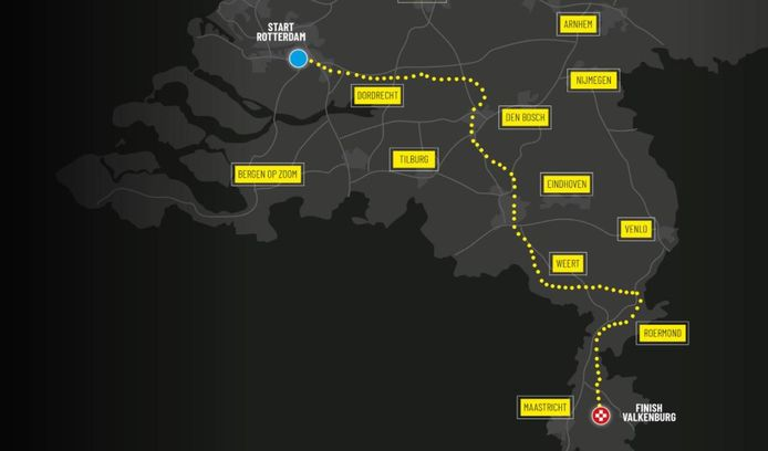 De mogelijke derde etappe van de Tour de France 2025.