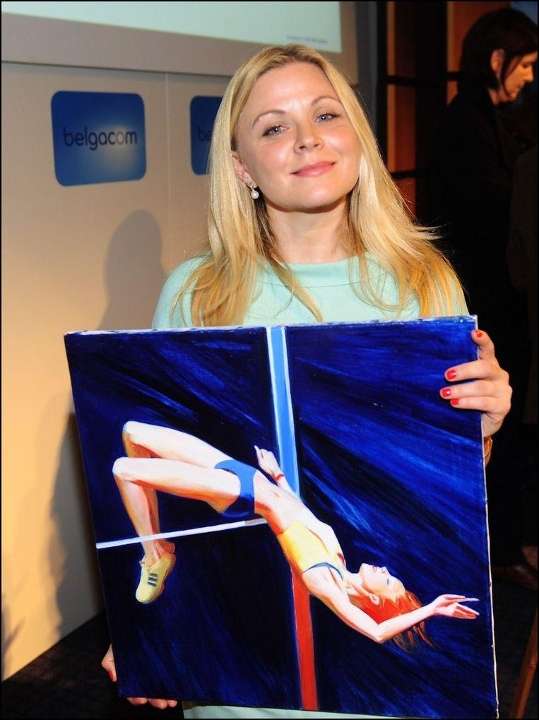 De Russische Natacha Ivanova stond in voor dit Memorial-kunstwerkje. Beeld PHOTO_NEWS