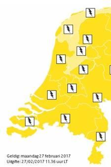 KNMI: 'Code geel' in Groene Hart, lokaal onweer, hagel en zware windstoten