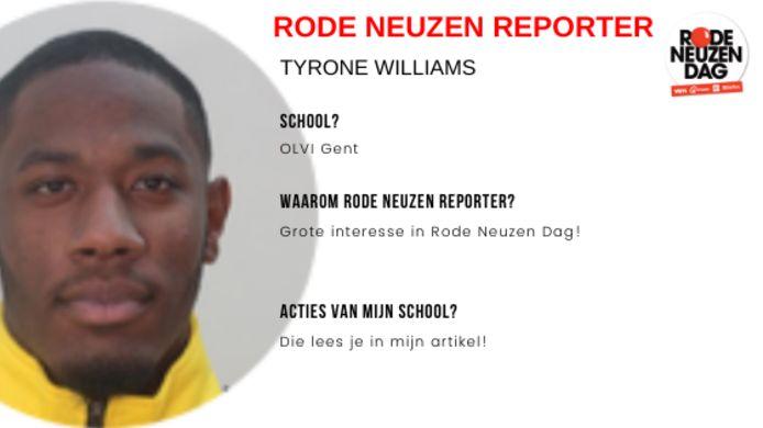 Dit artikel werd gemaakt door Rode Neuzen Reporter Tyrone Williams.