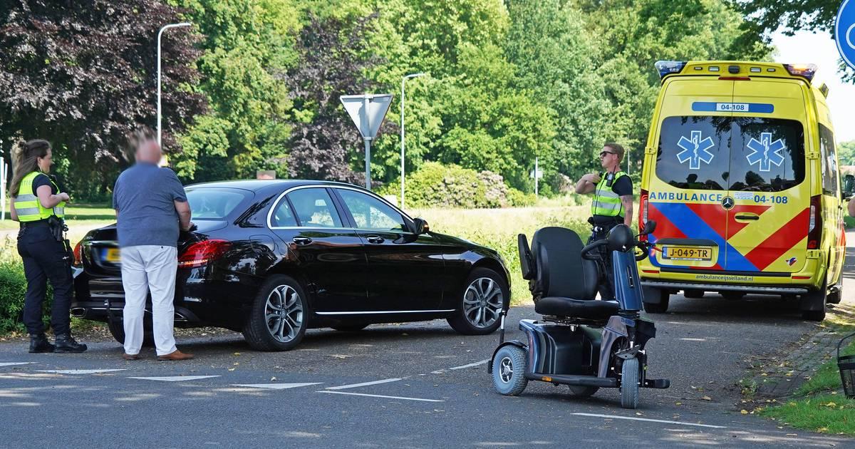 Man in scootmobiel gewond na aanrijding in Dedemsvaart.