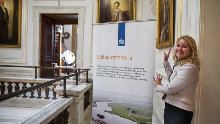 Minister Schultz van Haegen presenteerde het Deltaprogramma in september Beeld Nederlandse Freelancers