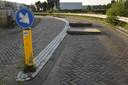 Betonnen platen op de Markkade in Breda