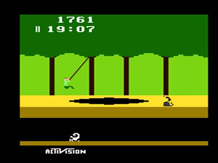 'Pitfall', een iconisch videogame op de Atari 2600 Beeld rv