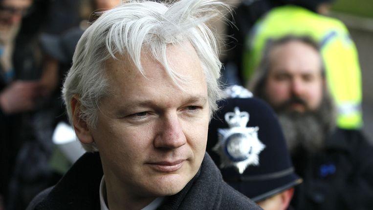 Julian Assange op 1 februari 2012 in Londen. Beeld AP