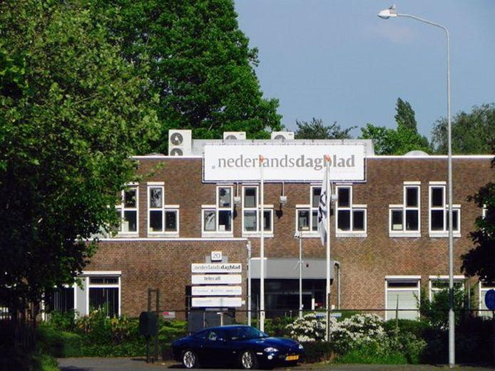 Het redactiegebouw aan de Hermesweg in Barneveld.
