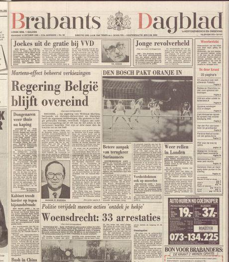 Brabants Dagblad in 1985 exclusief getuige van 'geheime' wedstrijd van Oranje