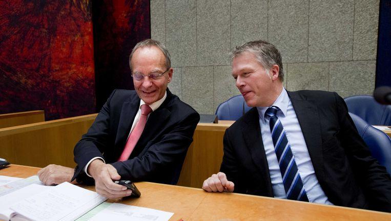 Informateurs Henk Kamp en Wouter Bos.