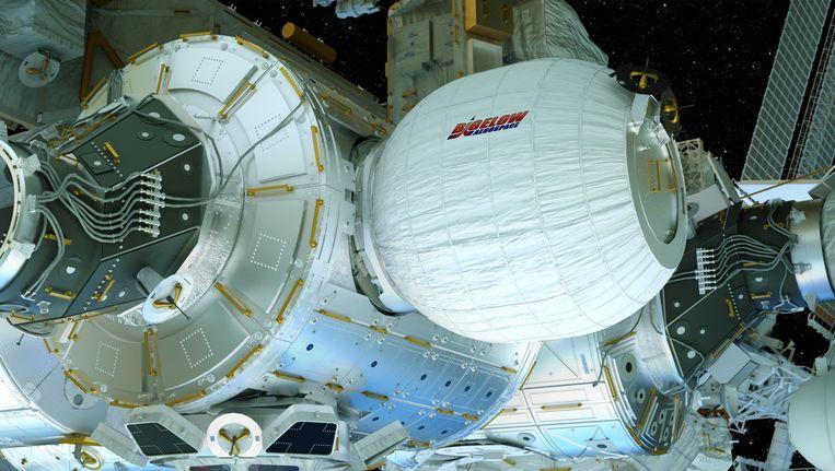 Een beeld van de 'ruimtetent' Beeld Bigelow Aerospace