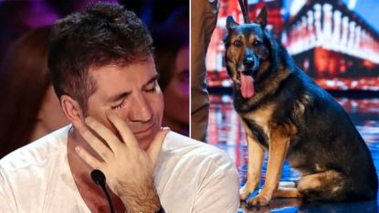 Simon Cowell in tranen na emotioneel verhaal over politiehond Finn in 'Britain's Got Talent'