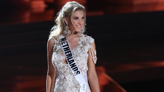 Jessie Jazz tijdens de Miss Universe Verkiezing, in Las Vegas, in 2015.