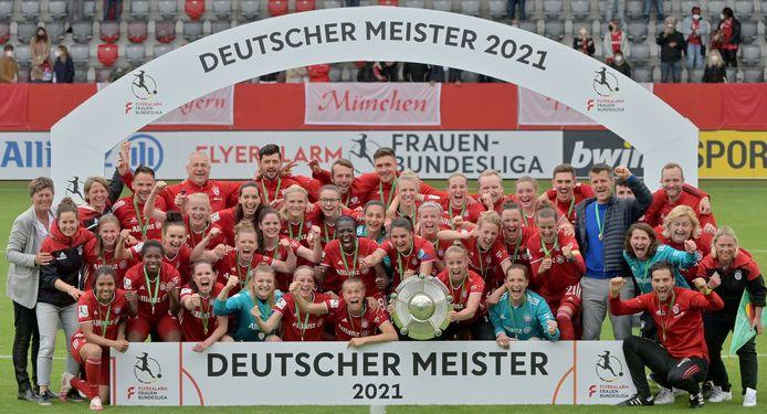 De voetbalsters van Bayern München zijn de nieuwe kampioen van Duitsland.