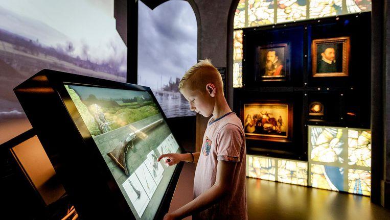 De canon is te zien in het Openluchtmuseum in Arnhem Beeld anp