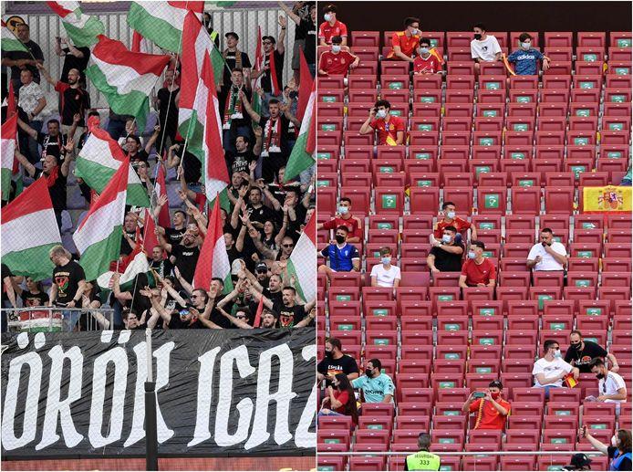 In elk EK-stadion is het toeschouwerspercentage anders.