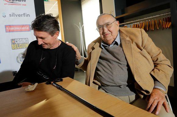 Roger Lambrecht met zijn nieuwe coach Trond Sollied.