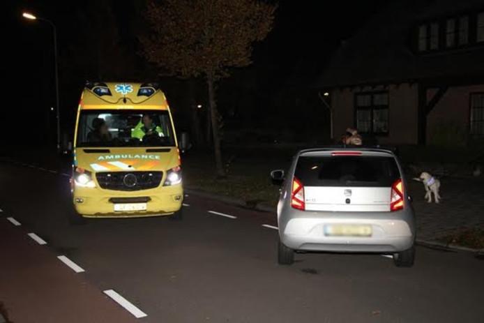 Ongeluk op de Noordbeekseweg in Vlissingen.