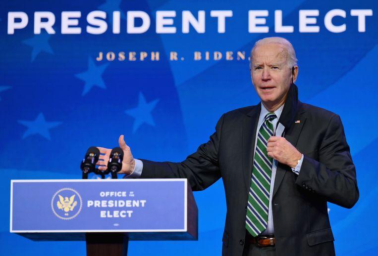 De Amerikaanse president-elect Joe Biden. Beeld AFP