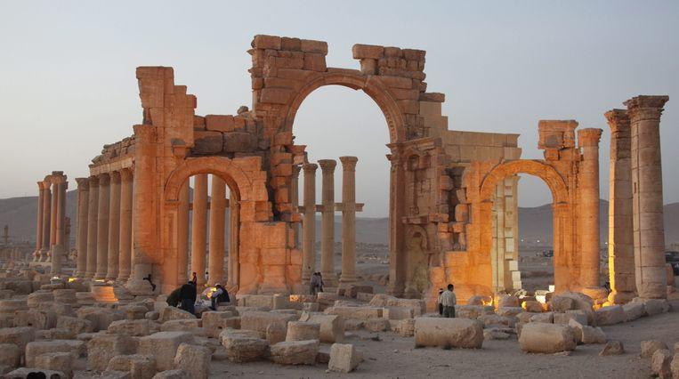 Talrijke tempels in de eeuwenoude Syrische ruïnestad Palmyra werden verwoest door strijders van Islamitische Staat (IS). Eind 4de eeuw deden de christenen al hetzelfde. Beeld EPA