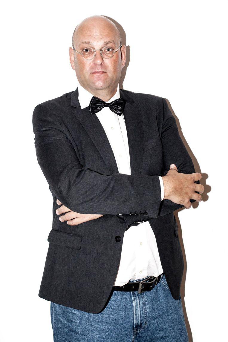 Schuimverslaggever Hans van der Beek. Beeld Linda Stulic