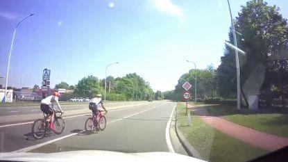 Aanrijding nipt vermeden: twee wielertoeristen fietsen doodleuk op ring rond Herentals