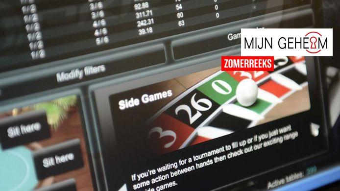 Beeld van een online casino ter illustratie.