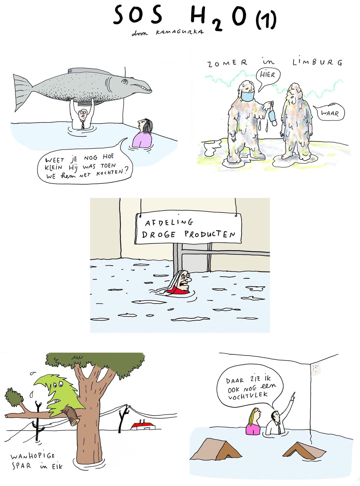 Kamagurka: SOS H2O(1) Beeld Kamagurka