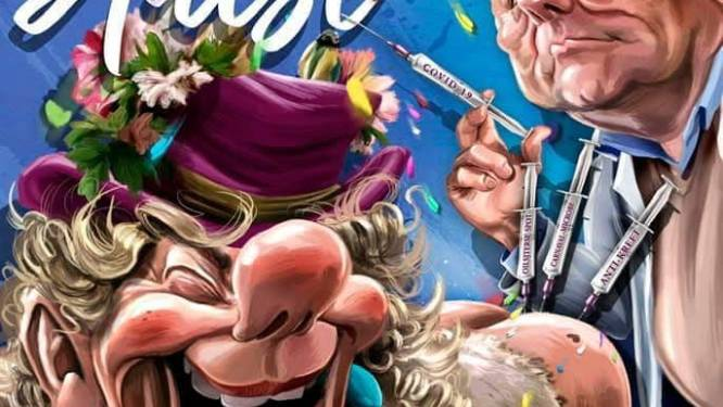 Carnavalsaffiche Bjein Treizen in mum van tijd uitverkocht