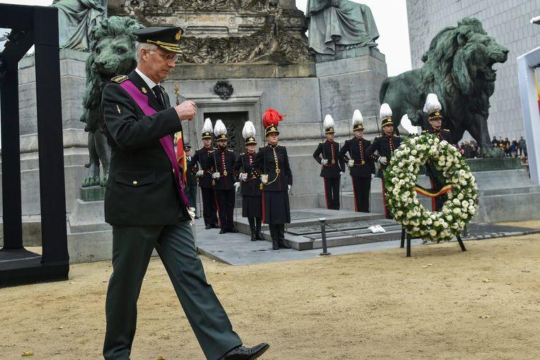 Militaire plechtigheid ter ere van de Onbekende Soldaat. Beeld Photo News