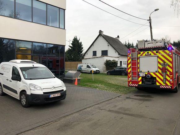 De brand ontstond in de keuken van het bedrijf.