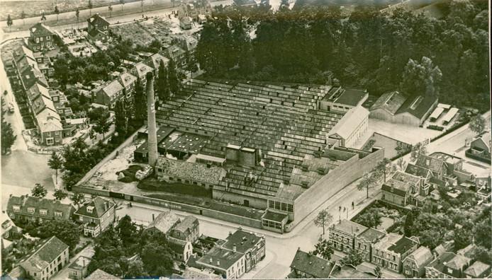 De bebouwing in vroegere tijden op het terrein van BATO NV.