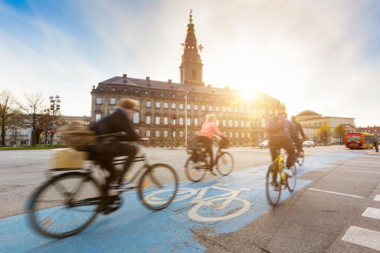 Wat fietsbeleid betreft, blijft Kopenhagen het Europese voorbeeld. Beeld thinkstock