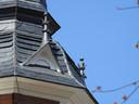 Details uit werkzaamheden van Walter Verhoeven BV aan een torenspits.