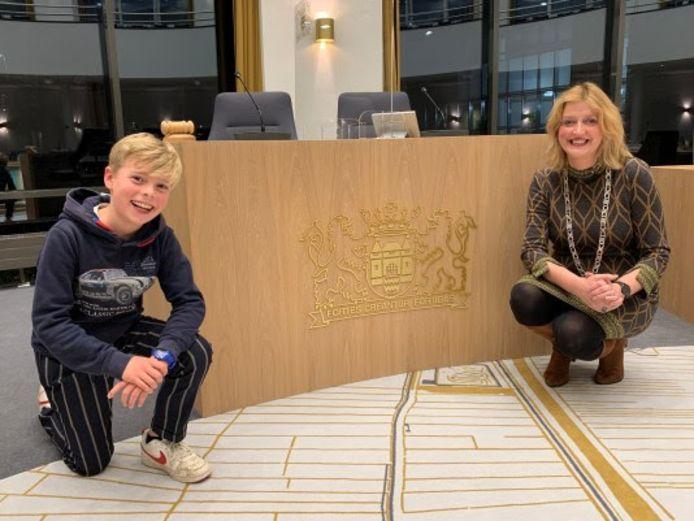 Samuël Heule samen met burgemeester Reinie Melissant van Gorinchem.