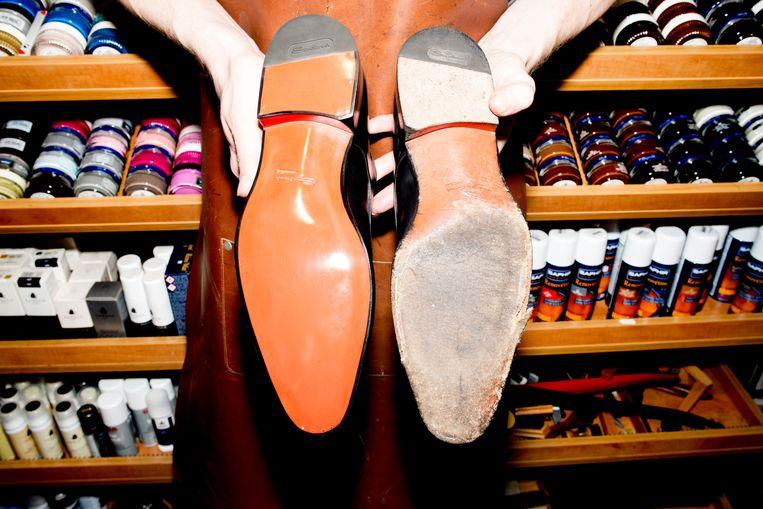 Het winnende schoenenpaar. Beeld Marjolein van Damme