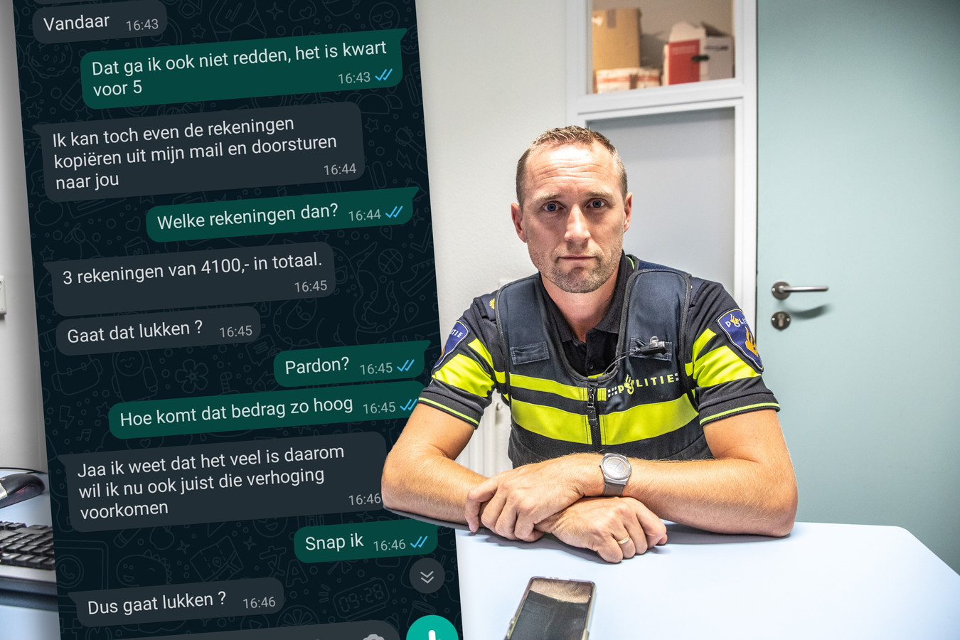 Wijkagent Maarten van Esch.