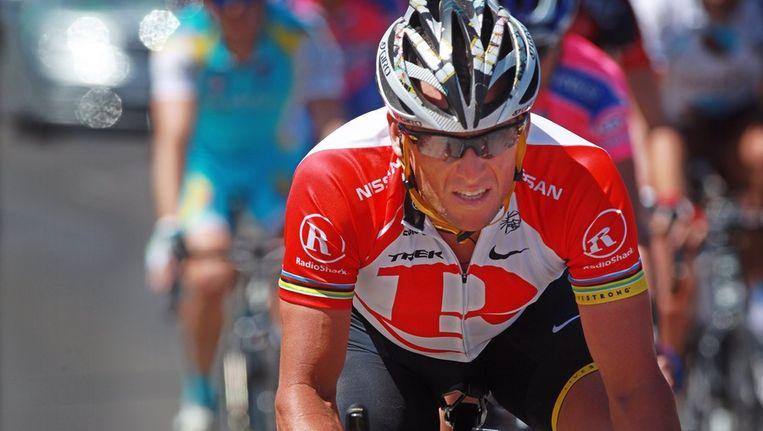 Lance Armstrong tijdens de Tour Down Under, in Australië, in januari 2011. Beeld EPA