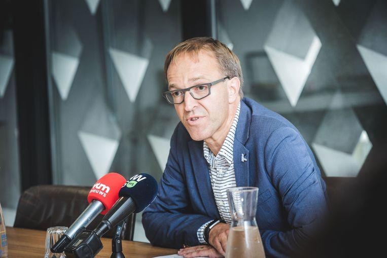 Rector Rik Van de Walle. Beeld Wannes Nimmegeers